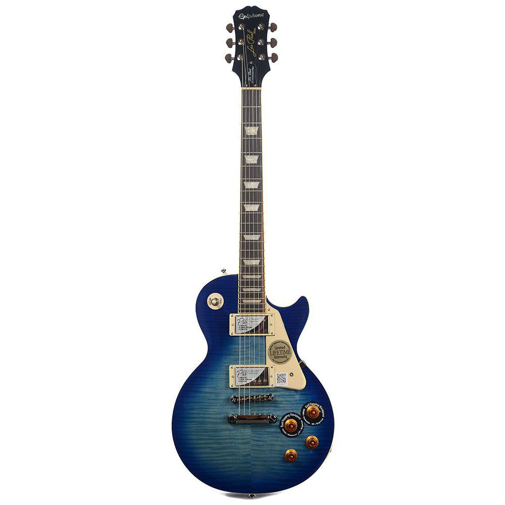 Guitarra Epiphone Les Paul Standard Plus Top Pro Trans Blues
