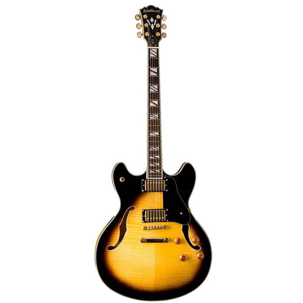 Guitarra Semi-Acústica Washburn HB35 Tobacco Sunburst