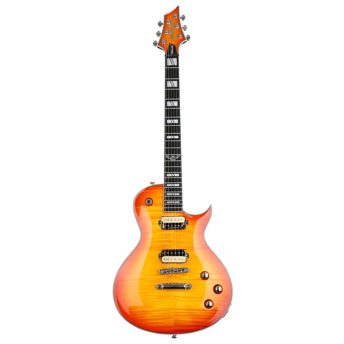 Guitarra Washburn Parallaxe PXL200 Flame Honey burst