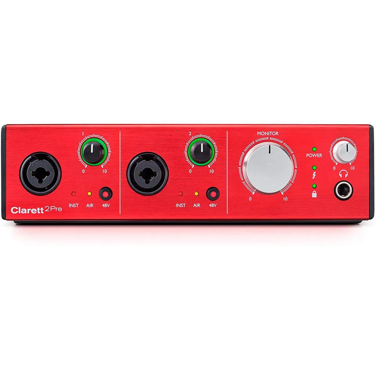 Interface de Áudio Focusrite Clarett 2Pre Thunderbolt