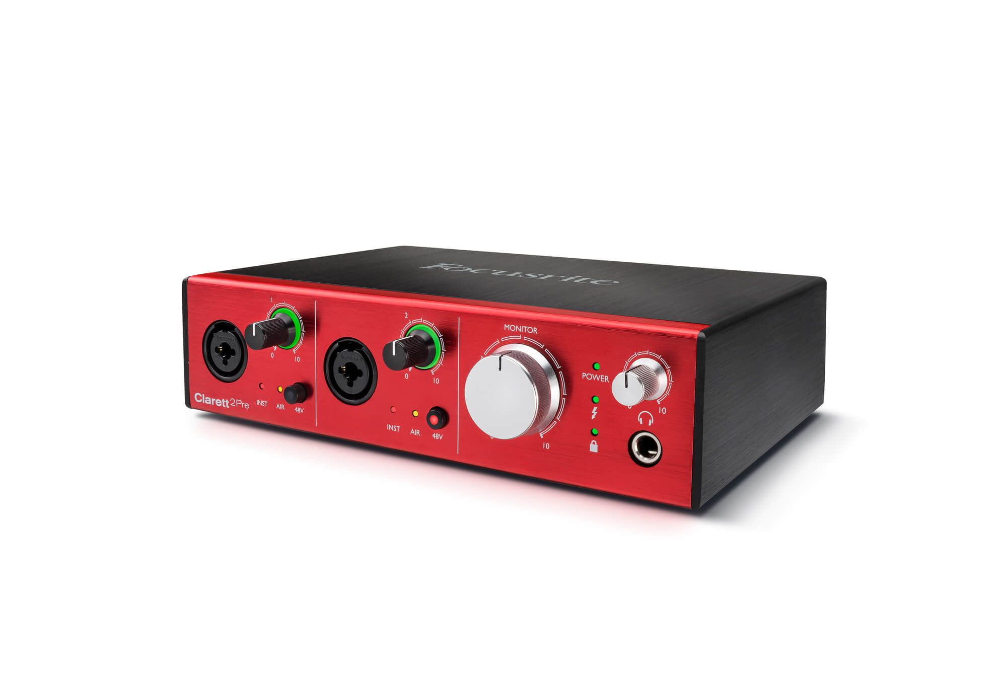Interface de Áudio Focusrite Clarett 2Pre Thunderbolt