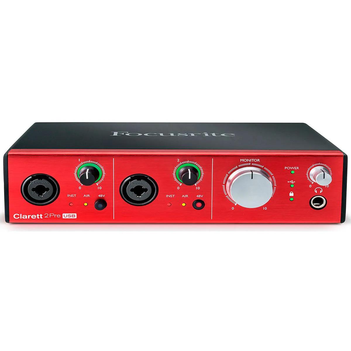 Interface de Áudio Focusrite Clarett 2Pre USB