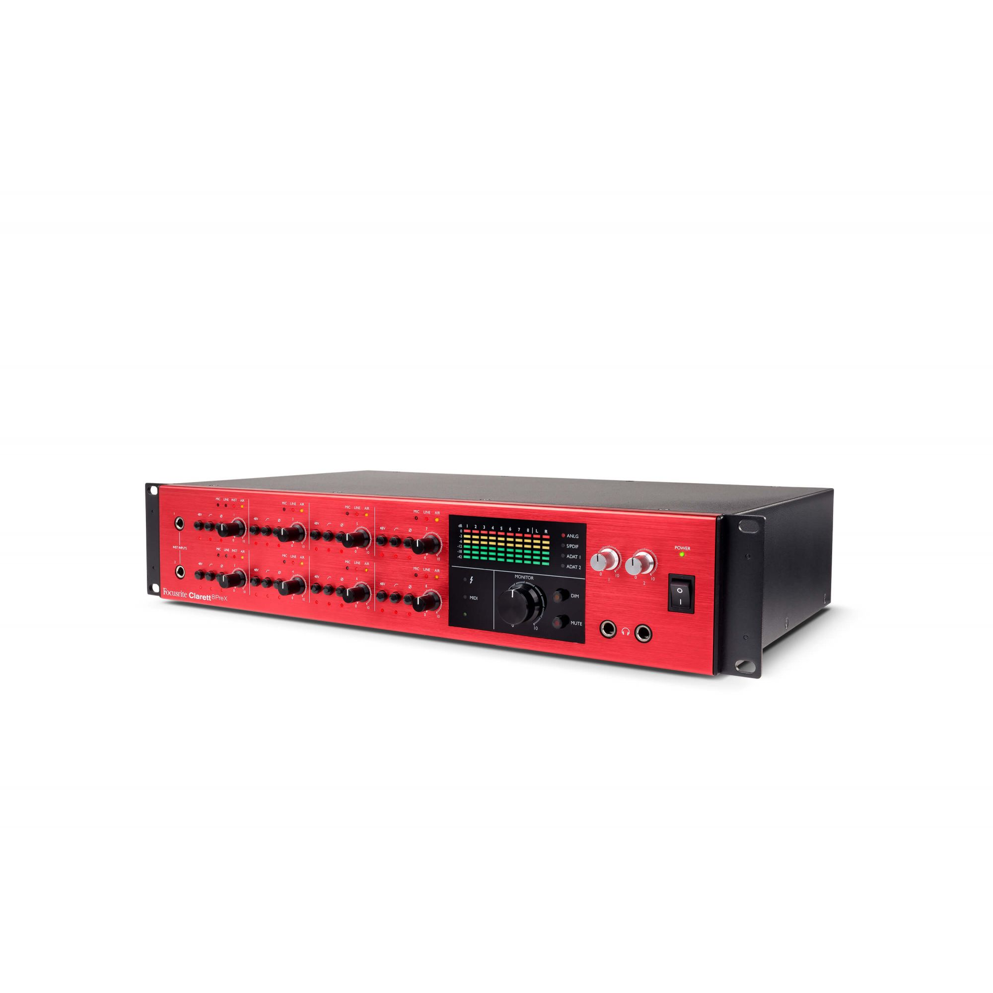 Interface de Áudio Focusrite Clarett 8PreX Thunderbolt