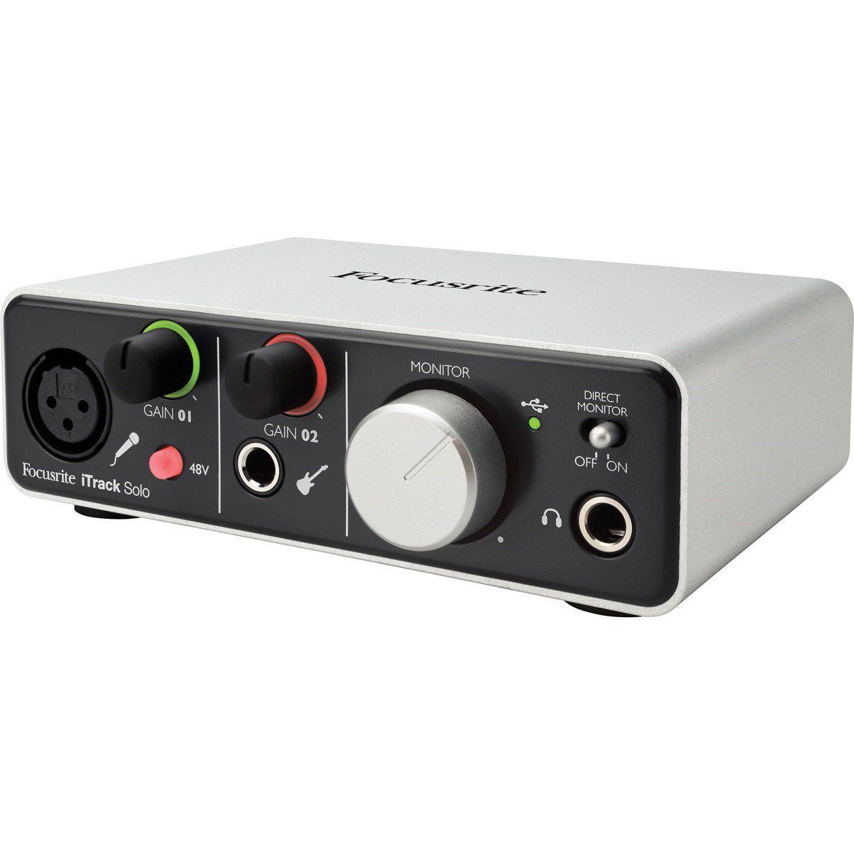 Interface de Áudio Focusrite iTrack Solo Lightning