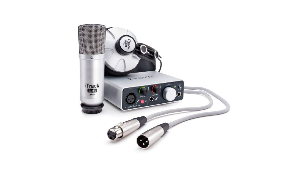 Interface de Áudio Focusrite iTrack Studio Kit USB