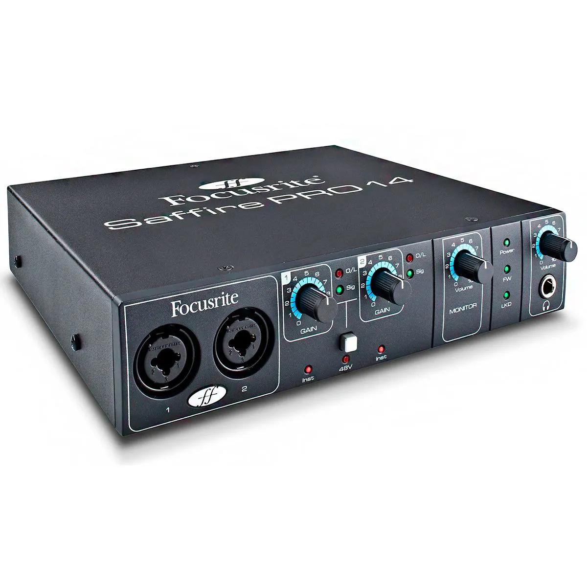 Interface de Áudio Focusrite Saffire Pro 14