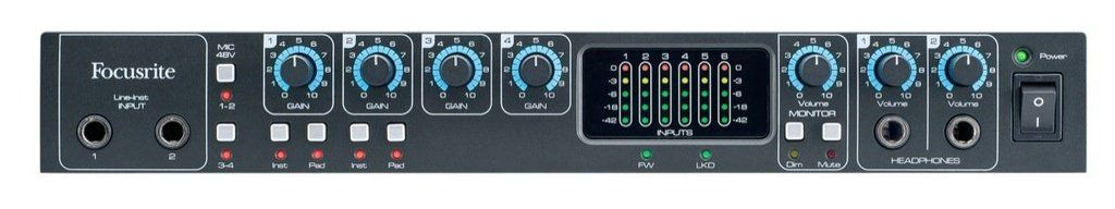 Interface de Áudio Focusrite Saffire Pro 26 Thunderbolt