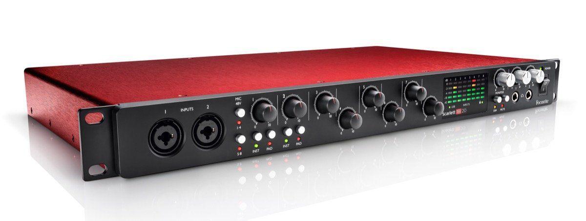 Interface de Áudio Focusrite Scarlett 18i20 USB 2.0 2nd Geração