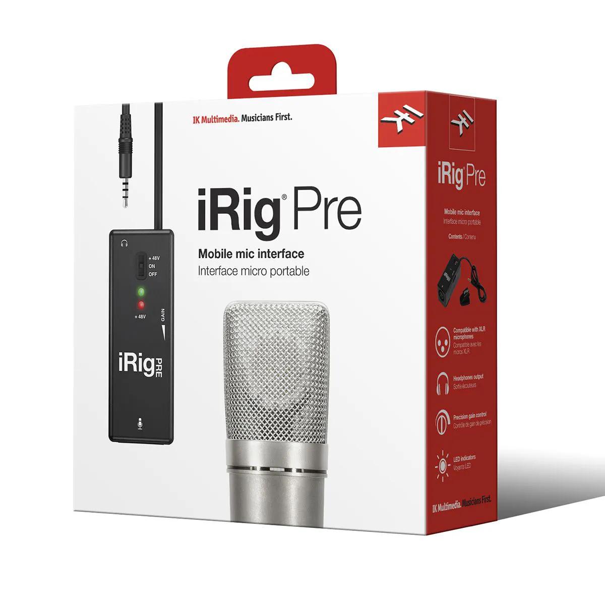 Interface de Áudio IK Multimedia iRig Pre para Microfone