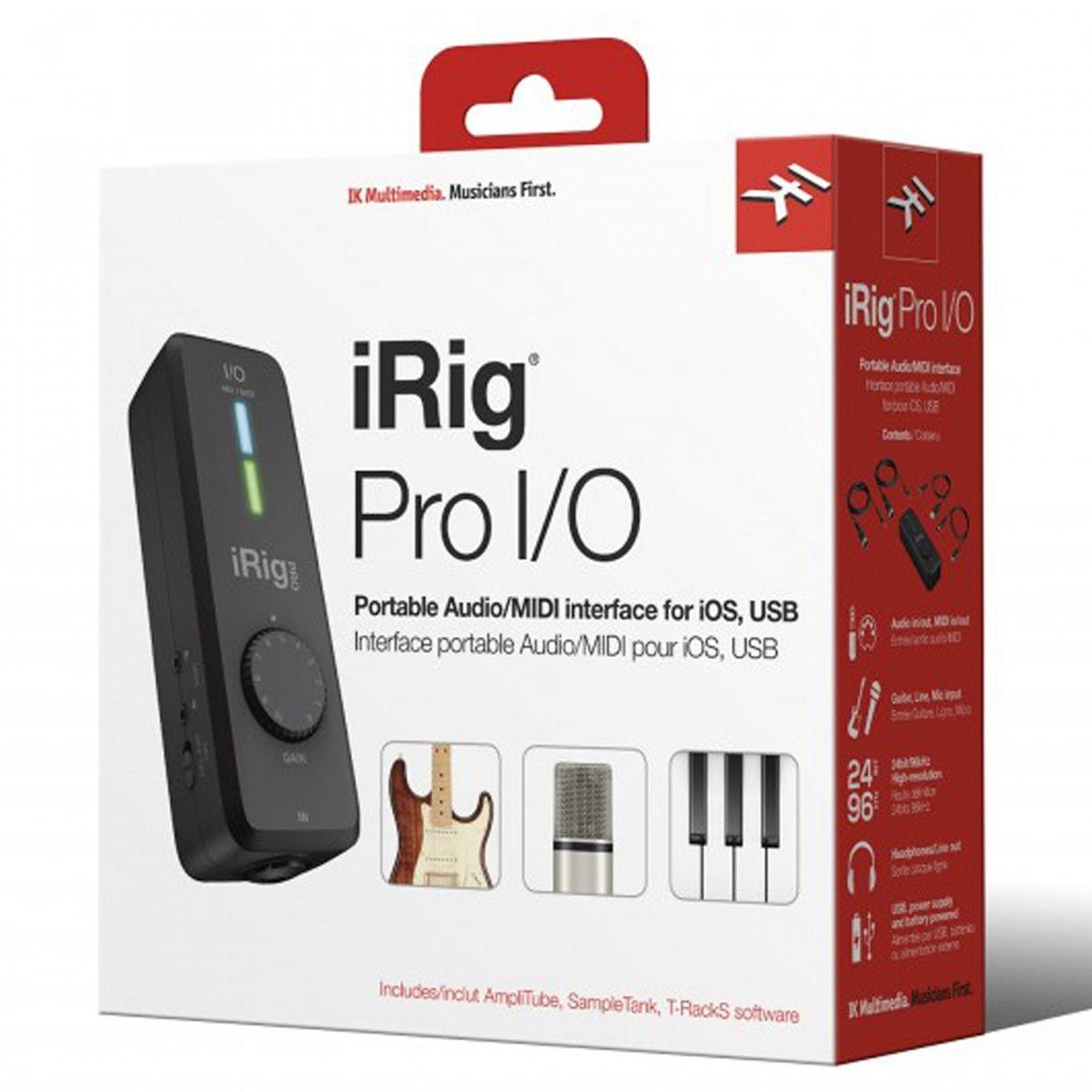 Interface De Áudio IK Multimedia Irig PRO IO