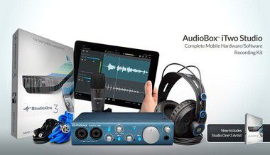 Interface de Áudio PreSonus Audiobox iTwo Studio Kit