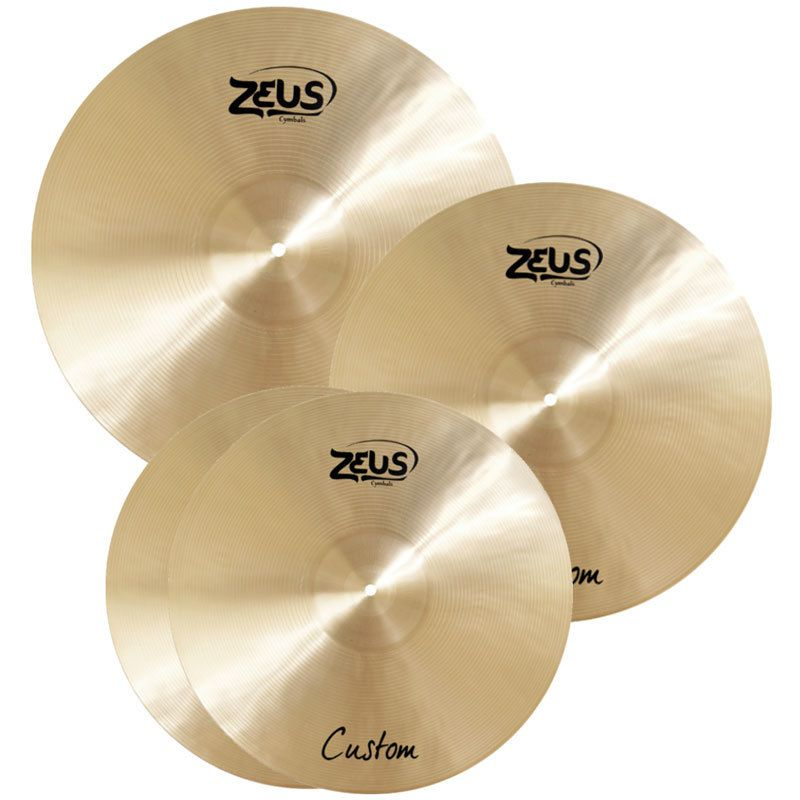 Kit de Pratos Zeus Cymbals SET C Custom Series 14