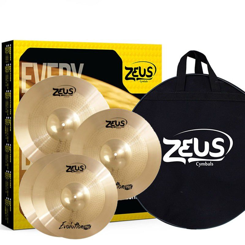 Kit de Pratos Zeus Cymbals SET C Evolution Pro 14