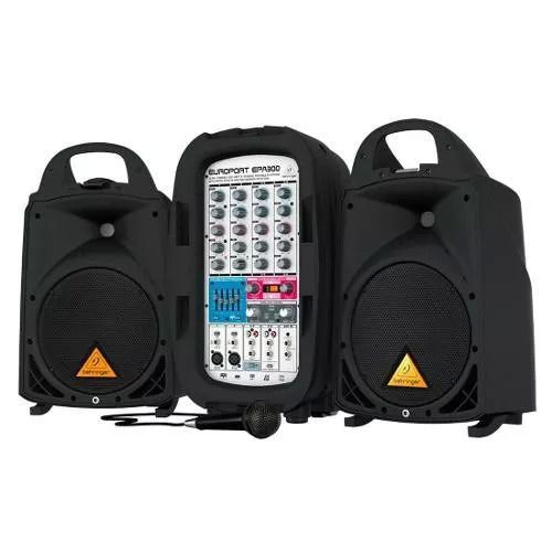Kit Portatil de PA Behringer Europort EPA300 300W