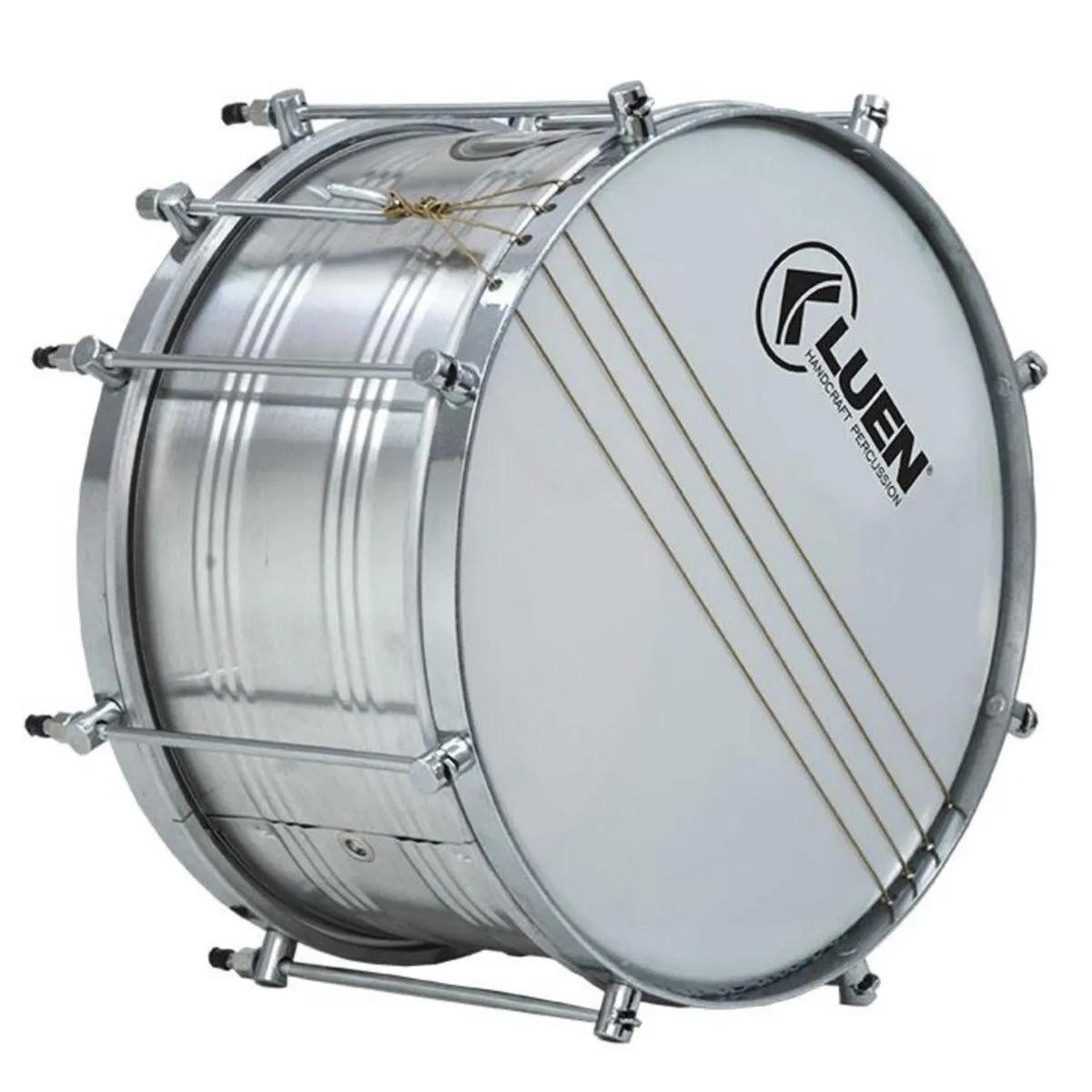 Malacaxeta Luen Percussion 20x12 Alumínio com Pele Leitosa