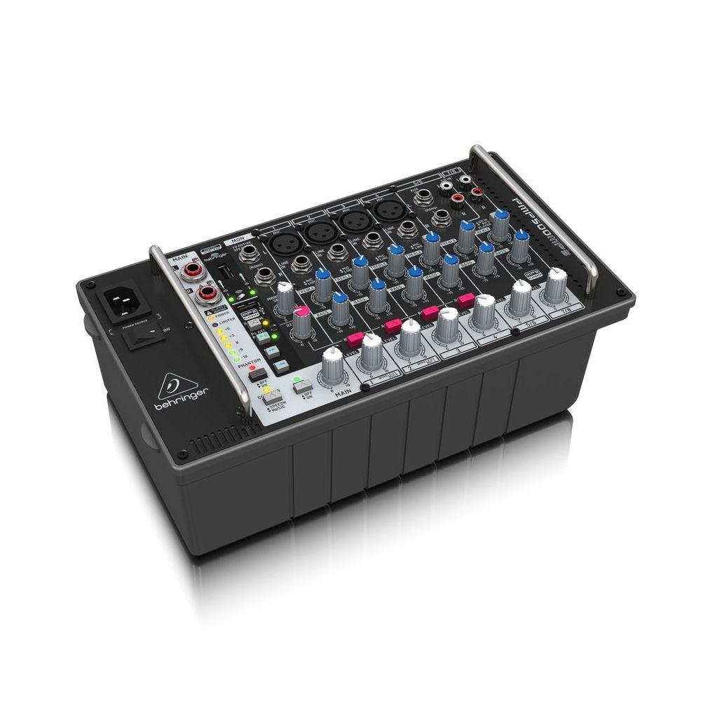 Mesa de Som Amplificada Behringer PMP500 MP3 500W 8 Canais