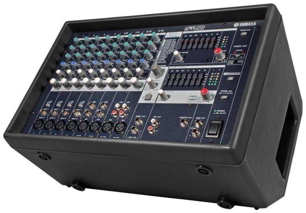 Mesa de Som Amplificada Yamaha EMX212S 440W 12 Canais