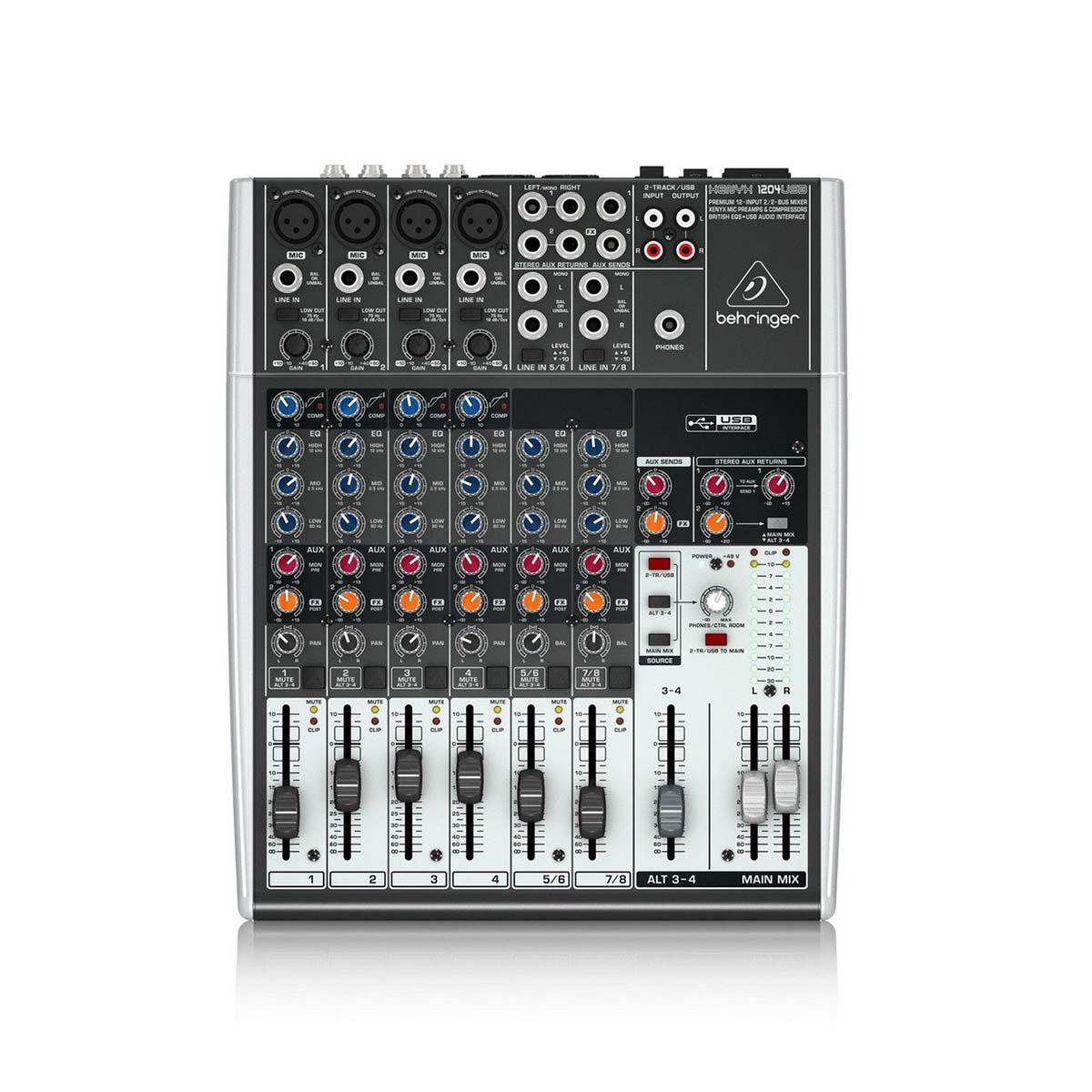 Mesa de Som Behringer Xenyx 1204 USB 12 Canais
