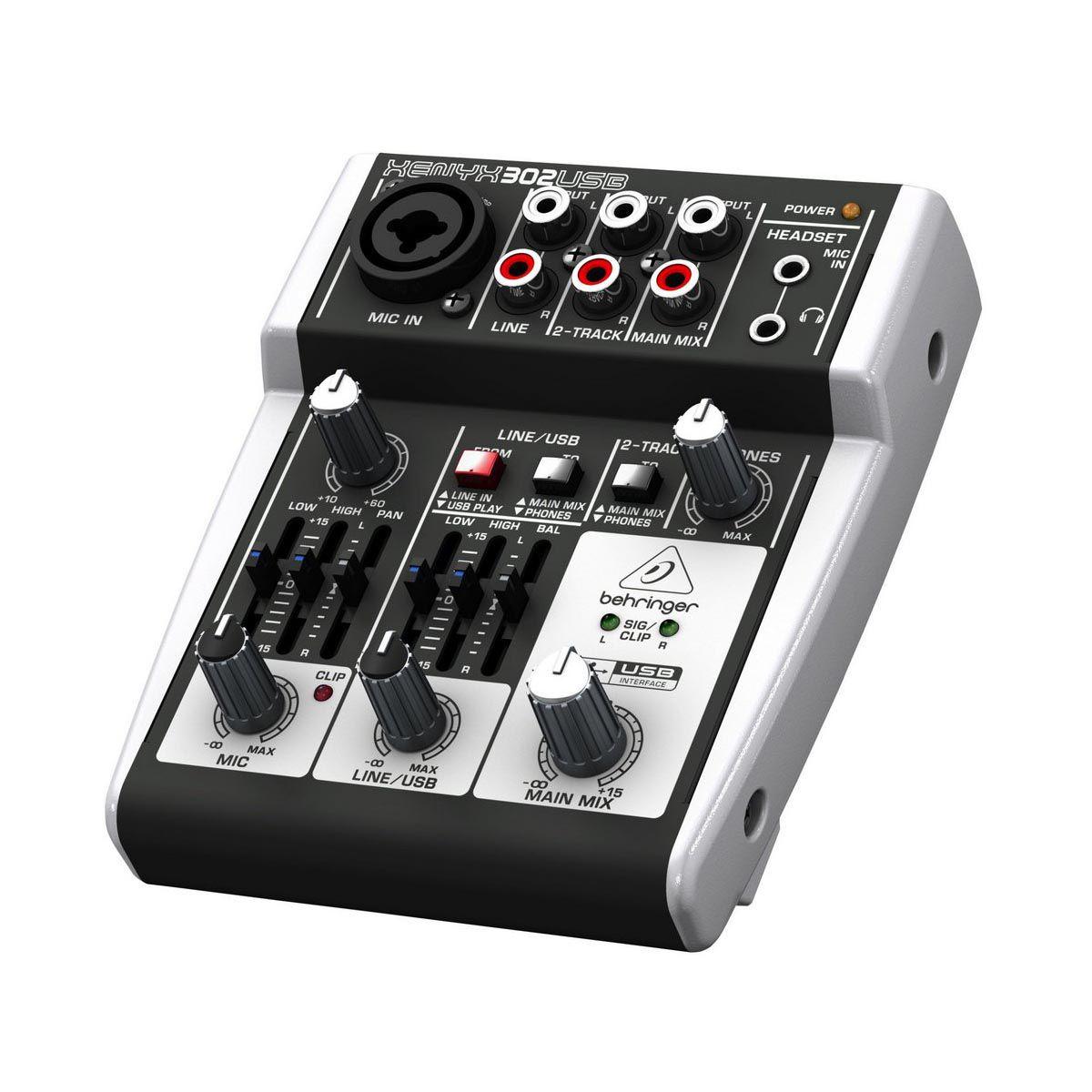 Mesa de Som Behringer Xenyx 302 USB 5 Canais
