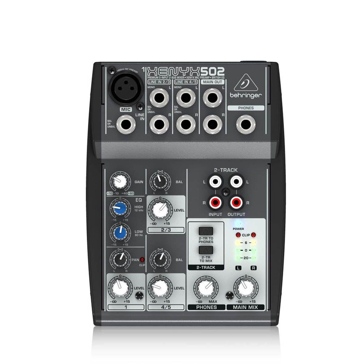 Mesa de Som Behringer Xenyx Q502 USB 5 Canais