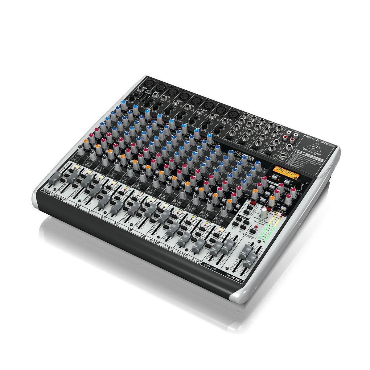 Mesa de Som Behringer Xenyx QX2222 USB 16 Canais