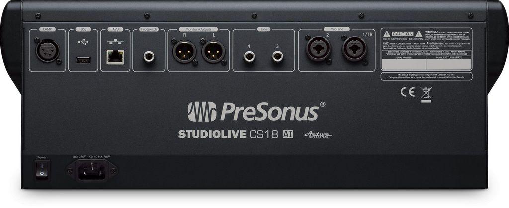 Mesa de Som Digital PreSonus StudioLive CS 18 AI 16 Canais