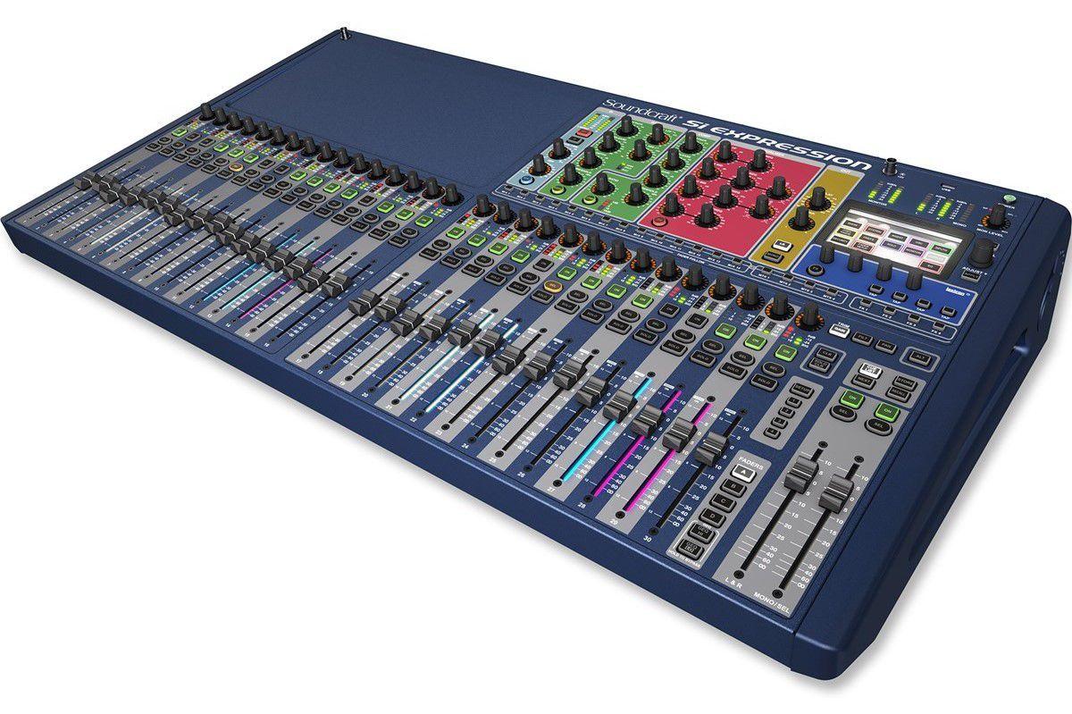 Mesa de Som Digital Soundcraft SI Expression 3  32 Canais
