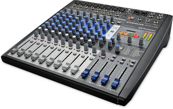 Mesa de Som Híbrida PreSonus StudioLive AR12 USB 14 Canais