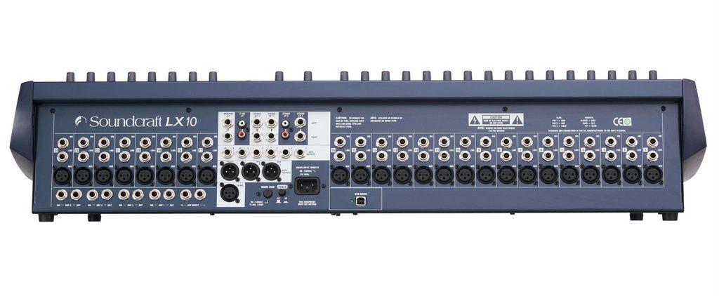 Mesa de Som Soundcraft LX10-24 USB 24 Canais