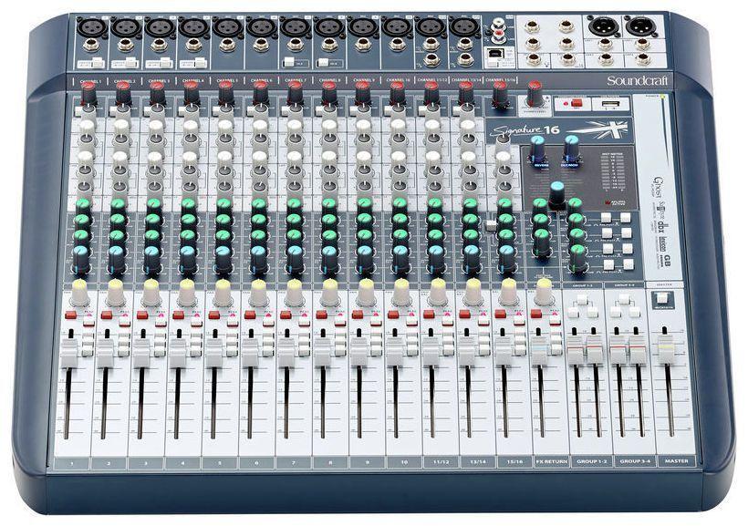 Mesa de Som Soundcraft Signature 16 USB  16 Canais
