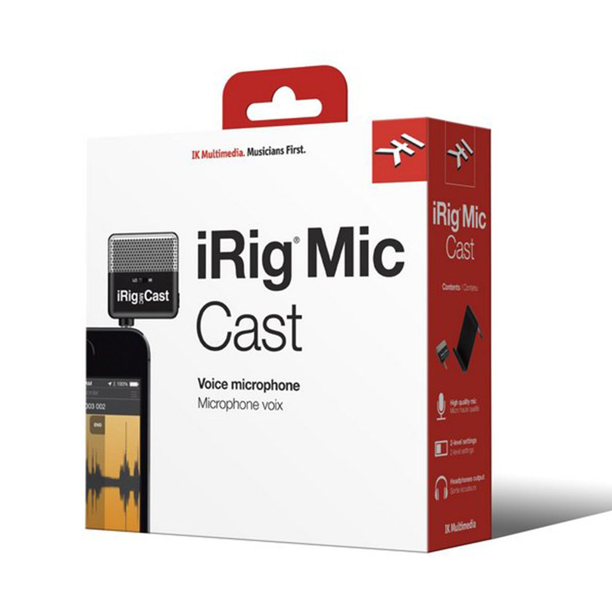 Microfone Cardióide IK Multimedia iRig Mic Cast para iPhone