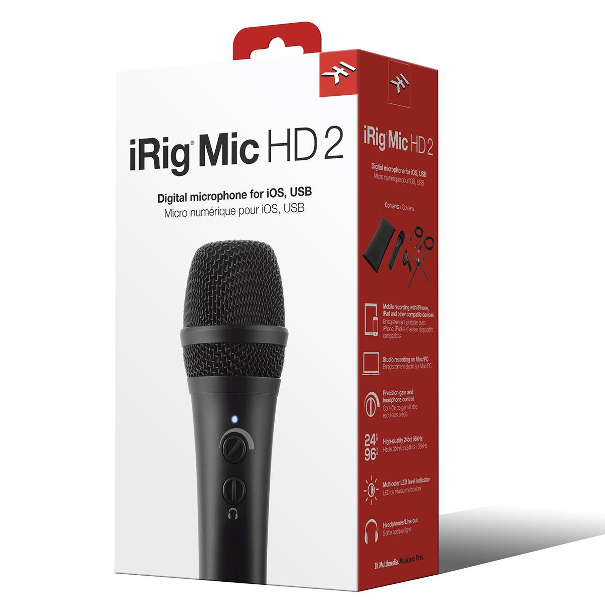 Microfone Condensador Ik Multimedia Irig Mic HD 2