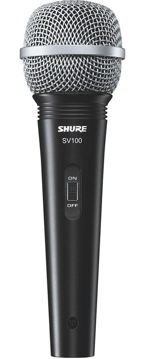 Microfone Dinâmico Shure SV100 com Fio