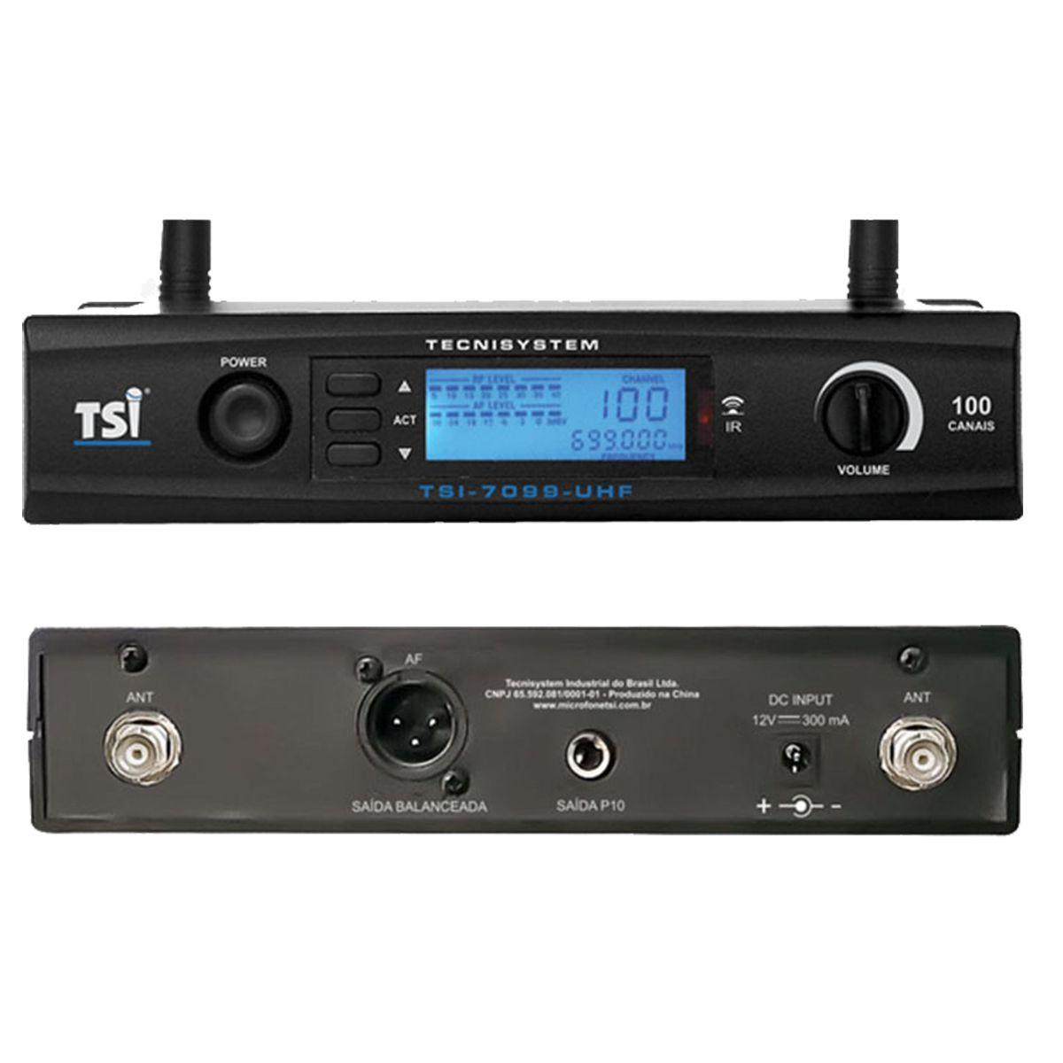 Microfone Sem Fio TSI 7099-UHF