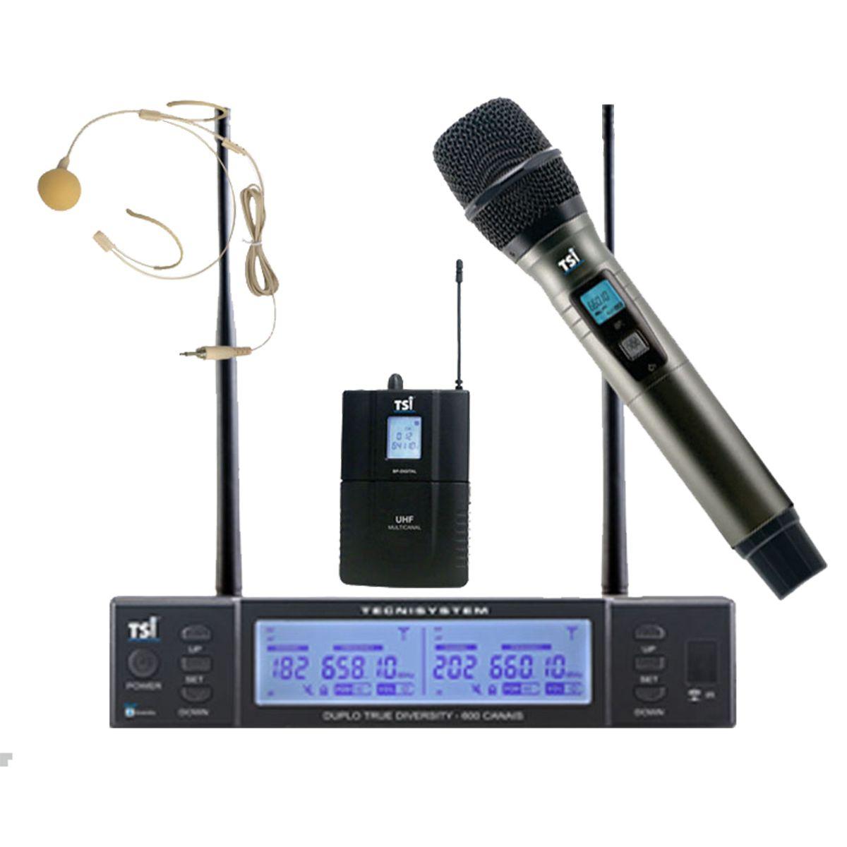 Microfone Sem Fio TSI BR8000-UHF CLI Broadcast Series