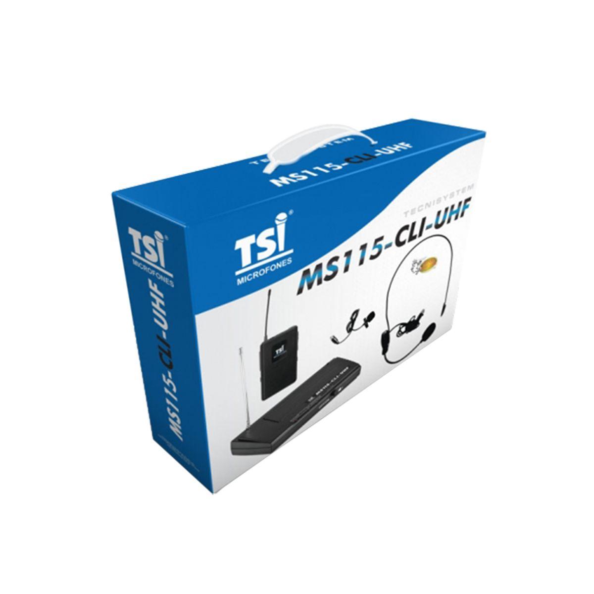 Microfone Sem Fio TSI MS115-CLI-UHF