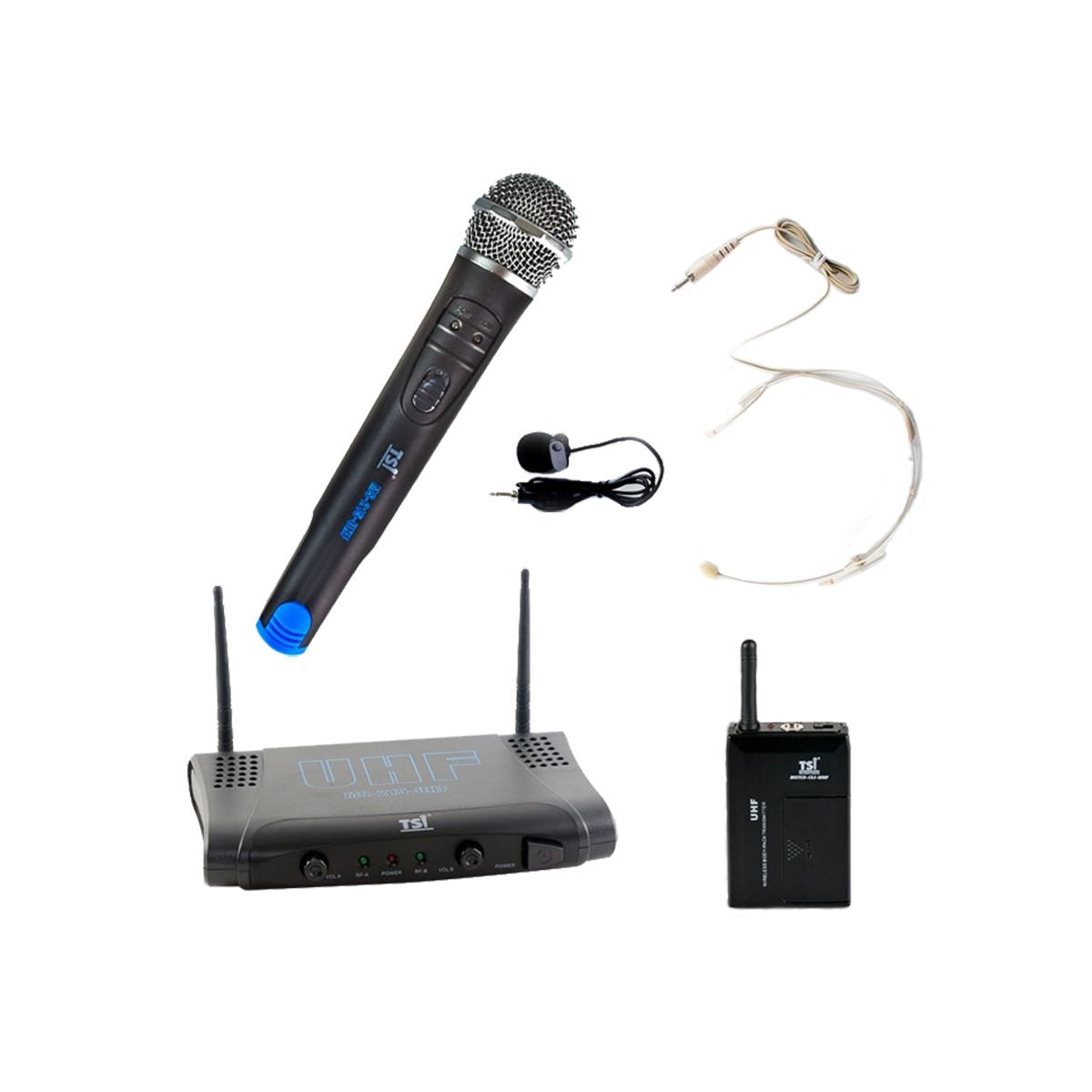 Microfone Sem Fio TSI MS215 CLI-UHF