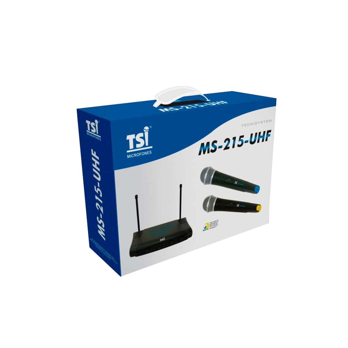 Microfone Sem Fio TSI MS215-UHF