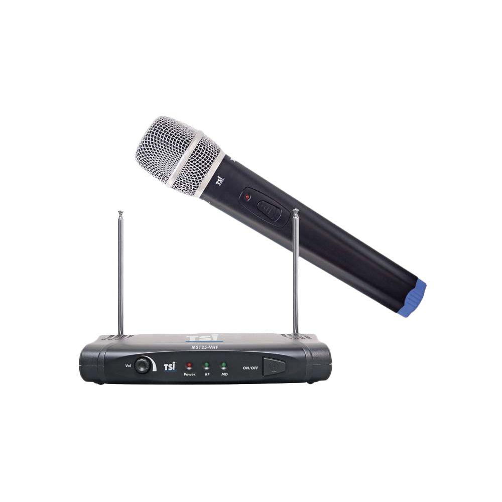 Microfone Sem Fio TSI MS-125 VHF Bastão