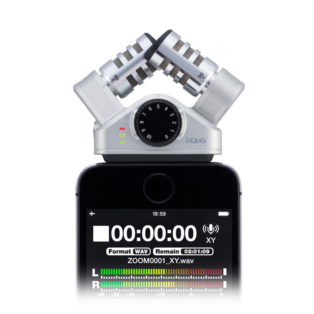 Microfone Zoom IQ6 Condensador X/Y Estéreo