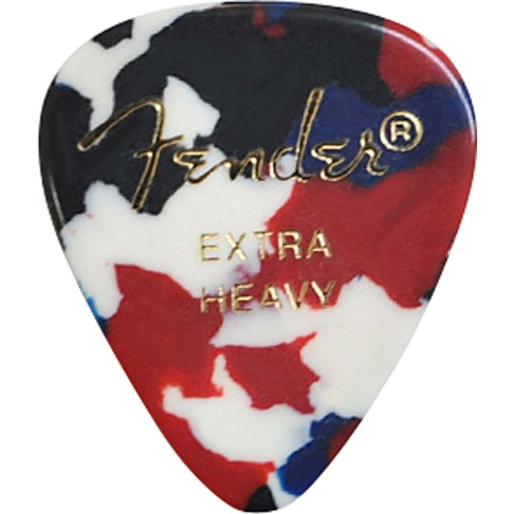 Palheta Fender Classic Celluloid Picks 351 Confetti Extra Heavy