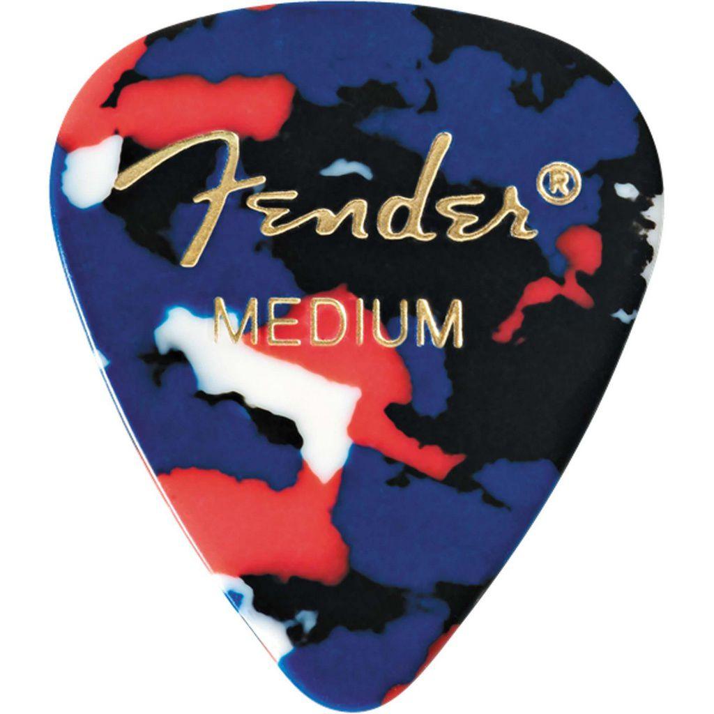 Palheta Fender Classic Celluloid Picks 351 Confetti Medium