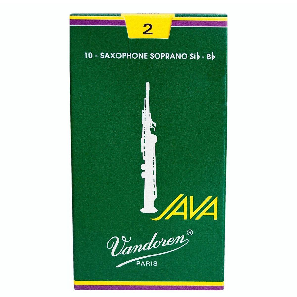 Palheta Vandoren Java Nº 2 para Sax Soprano