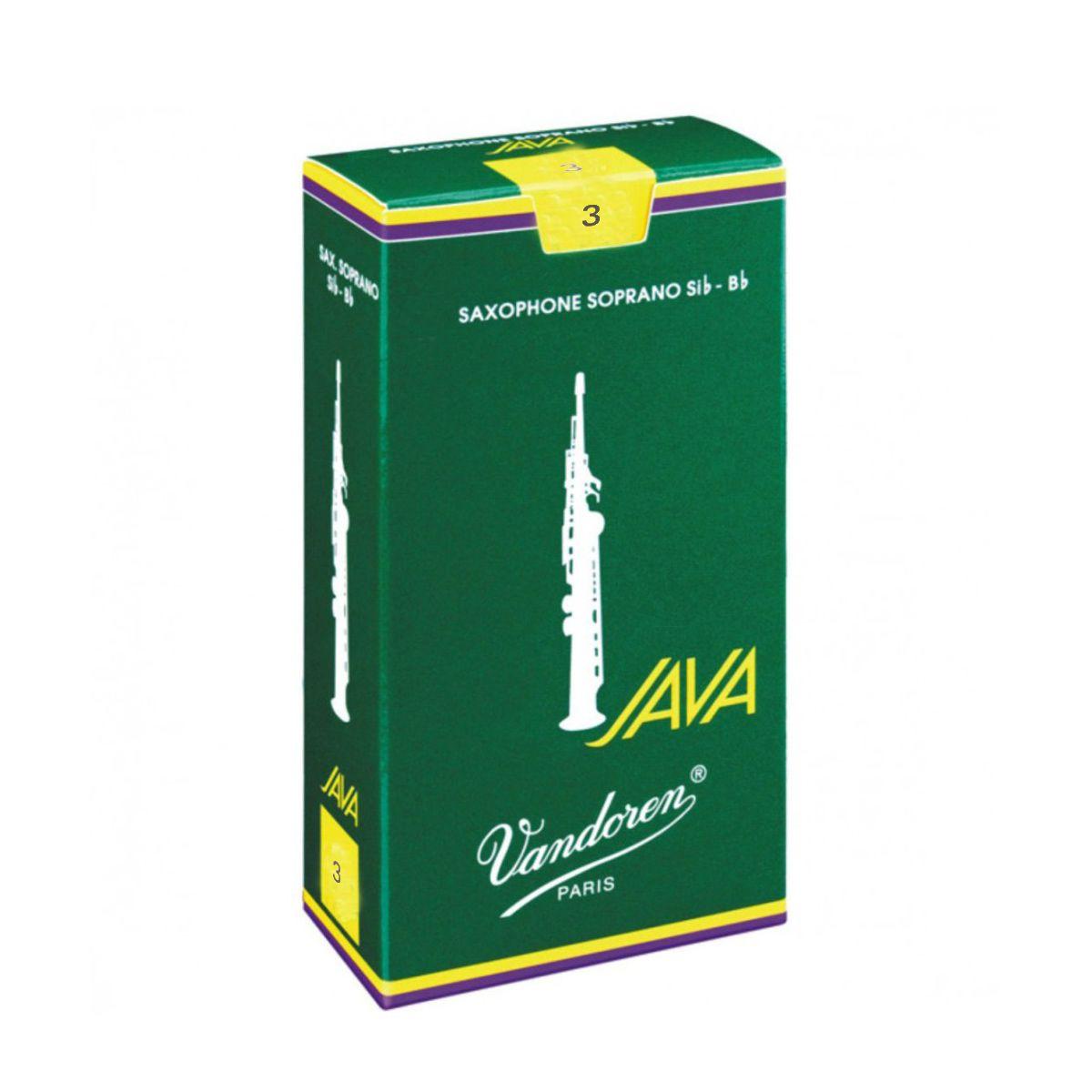 Palheta Vandoren Java Nº 3 para Sax Soprano