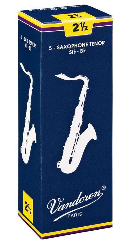 Palheta Vandoren Tradicional Nº 2,5 para Sax Tenor