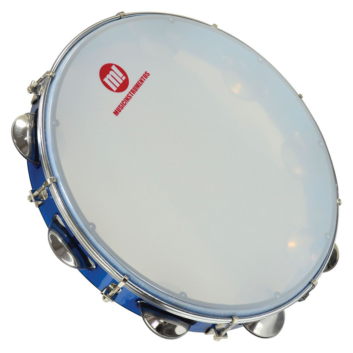 Pandeiro Acrílico Phx Music 10 Pele Leitosa Azul