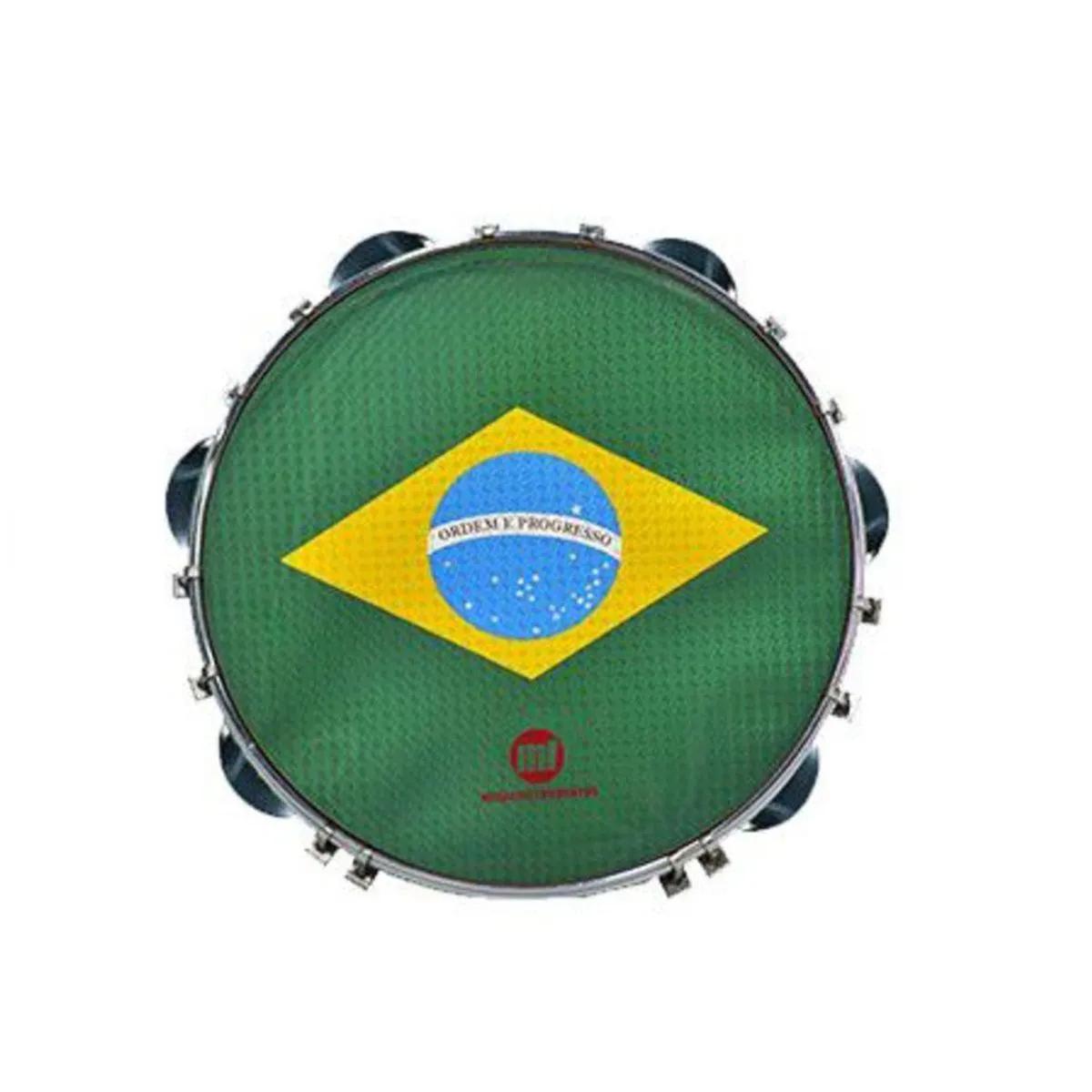 Pandeiro Acrílico Phx Music 12 Pele Brasil Verde