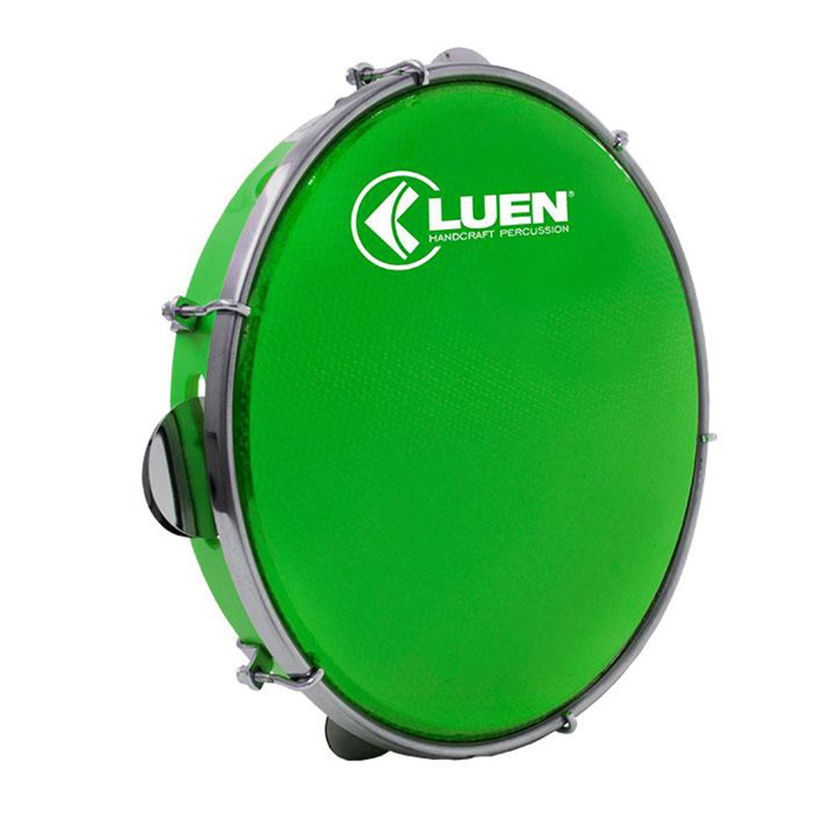 Pandeiro Luen Percussion 10 Aro ABS Pele Holográfica Verde