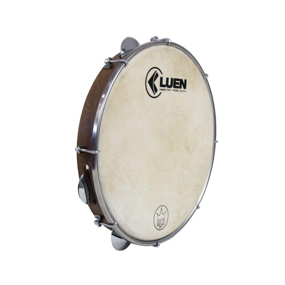 Pandeiro Luen Percussion 10 Guetto Cromadas Pele Animal