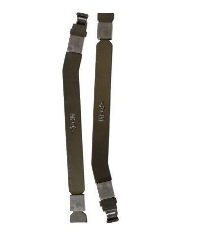 Par de Longarinas 290mm Curvado Slim Stay Preto